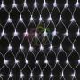 """Гирлянда """"Сеть"""" 2х1,5м, свечение с динамикой, прозрачный ПВХ, 288 LED, 230 В, цвет: Белый Neon-Night"""