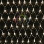 """Гирлянда """"Сеть"""" 2х1,5м, свечение с динамикой, прозрачный ПВХ, 288 LED, 230 В, цвет: Тёплый белый Neon-Night"""