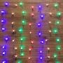 """Гирлянда """"Светодиодный Дождь"""" 1,5*1,5 м, с насадками шарики, свечение с динамикой, прозрачный провод, 230 В, диоды Мультиколор"""
