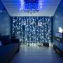 Гирлянда «Светодиодный дождь» 2х3 м, свечение с динамикой, прозрачный провод, 230 В, цвет белый Neon-Night