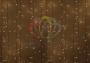"""Гирлянда """"Светодиодный Дождь""""  2x0,8м, свечение с динамикой, прозрачный провод, 230 В, диод Тепло-белые Neon-Night"""