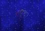 """Гирлянда """"Светодиодный Дождь"""" 2х1,5м, постоянное свечение, белый провод, 220В, диоды синие Neon-Night"""