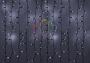 """Гирлянда """"Светодиодный Дождь"""" 2х4м, эффект мерцания, черный провод, 220В, диоды белые Neon-Night"""