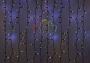 """Гирлянда """"Светодиодный Дождь"""" 2х3м, эффект мерцания, черный провод, 220В, диоды желтые Neon-Night"""