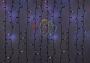 """Гирлянда """"Светодиодный Дождь"""" 2х1,5м, эффект мерцания, черный провод, 220В, диоды синие Neon-Night"""