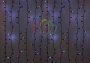"""Гирлянда """"Светодиодный Дождь"""" 2х1,5м, эффект мерцания, черный провод, 220В, диоды красные Neon-Night"""