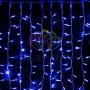 """Гирлянда """"Светодиодный Дождь"""" 2х1,5м, постоянное свечение, белый провод """"каучвк"""", 230 В, диоды СИНИЕ Neon-Night"""