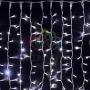 """Гирлянда """"Светодиодный Дождь"""" 2х1,5м, постоянное свечение, белый провод """"каучук"""", 230 В, диоды белые Neon-Night"""