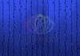 """Гирлянда """"Светодиодный Дождь"""" 2х1,5м, постоянное свечение, черный провод """"каучук"""", 230 В, диоды СИНИЕ Neon-Night"""
