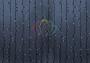 """Гирлянда """"Светодиодный Дождь"""" 2х6м, постоянное свечение, черный провод """"каучук"""", 220В, диоды белые Neon-Night"""