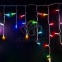 Гирлянда Айсикл (бахрома) светодиодный, 4,8 х 0,6 м, прозрачный провод, 230 В, диоды RGB, Neon-Night