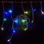 Гирлянда Айсикл (бахрома) светодиодный, 1,8 х 0,5 м, прозрачный провод, 230 В, диоды RGB Neon-Night