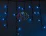 Гирлянда Айсикл (бахрома) светодиодный, 2,4 х 0,6 м, черный провод, 220В, диоды синие Neon-Night