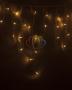 Гирлянда Айсикл (бахрома) светодиодный, 2,4 х 0,6 м, белый провод, 220В, диоды тепло-белые Neon-Night