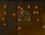 Гирлянда Айсикл (бахрома) светодиодный, 2,4 х 0,6 м, черный провод, 230 В, диоды жёлтые, Neon-Night