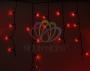Гирлянда Айсикл (бахрома) светодиодный, 2,4 х 0,6 м, черный провод, 230 В, диоды красные, Neon-Night