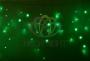 Гирлянда Айсикл (бахрома) светодиодный, 2,4 х 0,6 м, черный провод, 230 В, диоды зелёные, Neon-Night