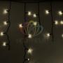 Гирлянда Айсикл (бахрома) светодиодный, 2,4 х 0,6 м, черный провод, 230 В, диоды тёпло-белые, Neon-Night