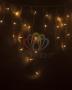 Гирлянда Айсикл (бахрома) светодиодный, 2,4 х 0,6 м, прозрачный провод, 230 В, диоды жёлтые, Neon-Night