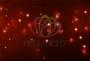 Гирлянда Айсикл (бахрома) светодиодный, 2,4 х 0,6 м, прозрачный провод, 230 В, диоды красные, Neon-Night