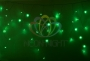 Гирлянда Айсикл (бахрома) светодиодный, 2,4 х 0,6 м, прозрачный провод, 230 В, диоды зелёные, Neon-Night