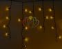 Гирлянда Айсикл (бахрома) светодиодный, 4,8 х 0,6 м, черный провод, 220В, диоды желтые Neon-Night