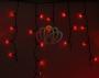 Гирлянда Айсикл (бахрома) светодиодный, 4,8 х 0,6 м, черный провод, 220В, диоды красные Neon-Night