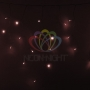 Гирлянда Айсикл (бахрома) светодиодный, 4,8 х 0,6 м, прозрачный провод, 230 В, цвет: Розовое золото Neon-Night