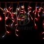 """Гирлянда """"Айсикл"""" 4,8х0,6 м, с эффектом мерцания, белый ПВХ, 176LED, цвет: Красный, 220В Neon-Night"""