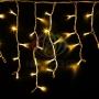 """Гирлянда Айсикл (бахрома) светодиодный, 4,0 х 0,6 м, белый провод """"КАУЧУК"""", 230 В, диоды желтые Neon-Night"""