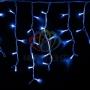 """Гирлянда Айсикл (бахрома) светодиодный, 4,0 х 0,6 м, белый провод """"каучук"""", 230 В, диоды синие Neon-Night"""