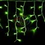 """Гирлянда Айсикл (бахрома) светодиодный, 4,0 х 0,6 м, белый провод """"каучук"""", 230 В, диоды зеленые Neon-Night"""