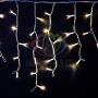 "Гирлянда Айсикл (бахрома) светодиодный, 4,0 х 0,6 м, белый провод ""каучук"", 230 В, диоды белые Neon-Night"