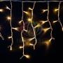 "Гирлянда Айсикл (бахрома) светодиодный, 3,2 х 0,6 м, белый провод ""каучук"", 230 В, диоды тепло-белые Neon-Night"