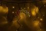 "Гирлянда Айсикл (бахрома) светодиодный, 4,0х0,6м, черный провод ""каучук"", 220В, диоды желтые Neon-Night"