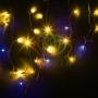 """Гирлянда Айсикл (бахрома) светодиодный, 4,0 х 0,6 м, с эффектом мерцания, черный провод """"каучук"""", 230 В, диоды желтые, Neon-Night"""