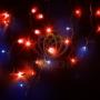 """Гирлянда Айсикл (бахрома) светодиодный, 4,0 х 0,6 м, с эффектом мерцания, черный провод """"каучук"""", 230 В, диоды красные, Neon-Night"""