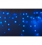 """Гирлянда Айсикл (бахрома) светодиодный, 4,0 х 0,6 м, с эффектом мерцания, черный провод """"КАУЧУК"""", 230 В, диоды синие, NEON-NIGHT"""