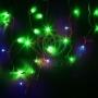 """Гирлянда Айсикл (бахрома) светодиодный, 4,0 х 0,6 м, с эффектом мерцания, черный провод """"каучук"""", 230 В, диоды зеленые, Neon-Night"""