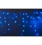 """Гирлянда Айсикл (бахрома) светодиодный, 4,0 х 0,6 м, с эффектом мерцания, черный провод """"КАУЧУК"""", 230 В, диоды белые, NEON-NIGHT"""