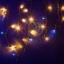 """Гирлянда Айсикл (бахрома)светодиодный, 4,0 х 0,6 м, с эффектом мерцания, черный провод """"каучук"""", 230 В, диоды тепло-белые, NEON-NIGHT"""