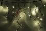 """Гирлянда Айсикл (бахрома) светодиодный, 5,6х0,9м, с эффектом мерцания,черный провод """"каучук"""", 220В, диоды тепло-белые Neon-Night"""
