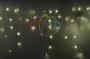 """Гирлянда Айсикл (бахрома) светодиодный, 5,6х0,9м, с эффектом мерцания, БЕЛЫЙ провод """"каучук"""", 220В, диоды ТЕПЛО-БЕЛЫЕ, Neon-Night"""