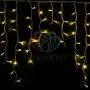"""Гирлянда Айсикл (бахрома) светодиодный, 5,6 х 0,9 м, белый провод """"каучук"""", 230 В, диоды желтые, Neon-Night"""
