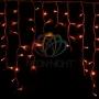 """Гирлянда Айсикл (бахрома) светодиодный, 5,6 х 0,9 м, белый провод """"каучук"""", 230 В, диоды красные, Neon-Night"""