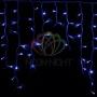 """Гирлянда Айсикл (бахрома) светодиодный, 5,6 х 0,9 м, белый провод """"каучук"""", 230 В, диоды синие, Neon-Night"""
