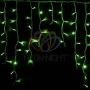 """Гирлянда Айсикл (бахрома) светодиодный, 5,6 х 0,9 м, белый провод """"каучук"""", 230 В, диоды зеленые, Neon-Night"""