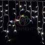 "Гирлянда Айсикл (бахрома) светодиодный, 5,6 х 0,9 м, белый провод ""каучук"", 230 В, диоды белые, Neon-Night"