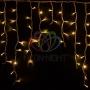 "Гирлянда Айсикл (бахрома) светодиодный, 5,6 х 0,9 м, белый провод ""каучук"", 230 В, диоды тепло-белые, Neon-Night"