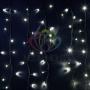 """Гирлянда Айсикл (бахрома) светодиодный, 6,0 х 1,5 м, черный провод """"каучук"""", 230 В, диоды белые, Neon-Night"""